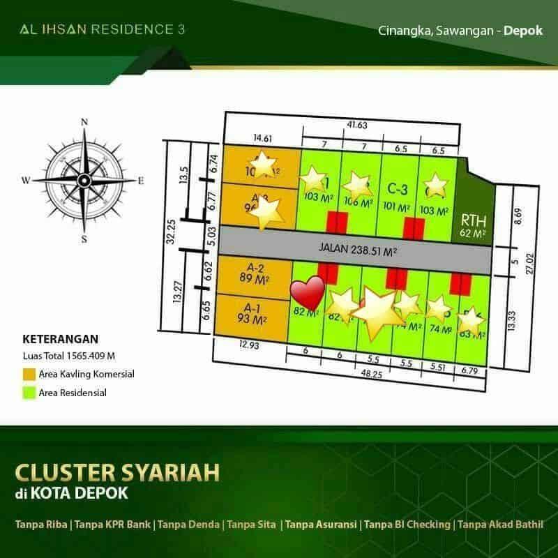 perumahan syariah depok - perumahan syariah pondok cabe - update site plan juni 2020 - al-ihsan residence 3 - air3 - nprosyar - davpropertysyariah