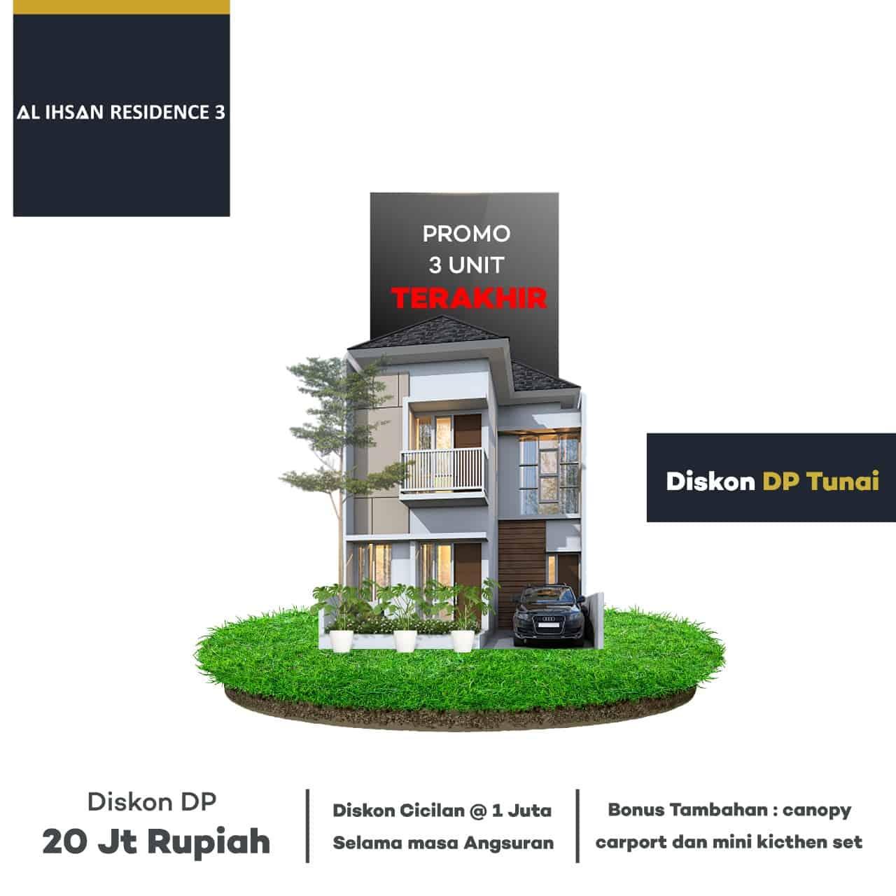 perumahan syariah cinangka - background atas perumahan syariah depok pondok cabe al - ihsan residence 3 - promo september - davpropertysyariah